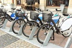 Stads- cyklar Fotografering för Bildbyråer