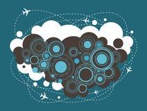 Stads- design för flygplan som är infographic, symbol Royaltyfri Fotografi