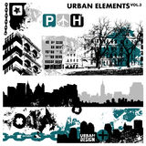 stads- diagram för 3 element stock illustrationer