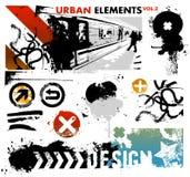 stads- diagram för 2 element Arkivfoto