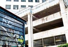 stads- förfallgrafitti Arkivbild