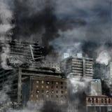 Stads- förstörelse vektor illustrationer