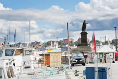 stads- fartyghavsstockholm terminal Royaltyfria Bilder