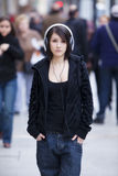 stads- flickastående Royaltyfri Fotografi