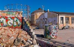 stads- förfall Arkivfoton