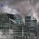 stads- förstörelse Arkivfoto