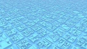 Stads- futuristisk stad av strukturanimeringen stock video
