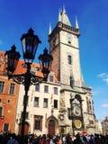 Stads- gammal byggnad i Prague, augusti 17 2017 Royaltyfri Fotografi