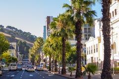Stads- gata Cape Town Arkivfoto