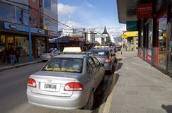 Stads- gata i Ushuaia, Argentina Royaltyfria Foton