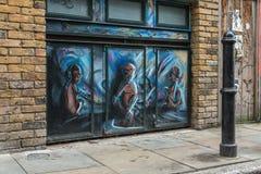 Stads- gatakonst i London Fotografering för Bildbyråer