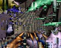 Stads- geometrisk Fractal II Royaltyfri Foto