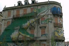 Stads- grafit stads- konst Arkivfoto