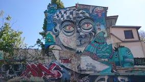 Stads- grafitti i Bucharest Arkivbild