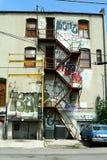 stads- grafittiplats Fotografering för Bildbyråer