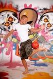 stads- grafittitonåring Royaltyfri Fotografi