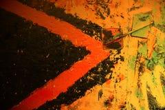 Stads- grafittivägg Arkivbild