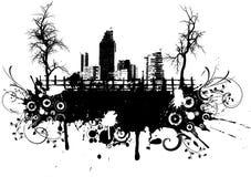 stads- grunge Arkivbild