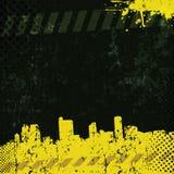 Stads- grungebakgrund för vektor Royaltyfria Foton