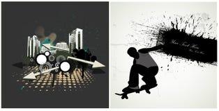 Stads- Grungevektorer Arkivfoto