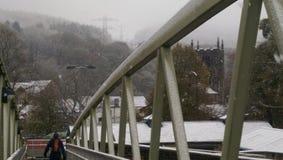 Stads- häftig snöstorm Royaltyfri Fotografi