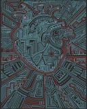 Stads- hjärtavektorillustration Arkivbild