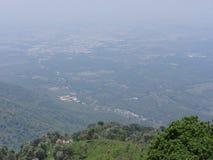 Stads hoogste mening vanaf bovenkant van heuvels Stock Foto