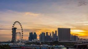 Stads- horisont och sikt av skyskrapor Royaltyfri Bild