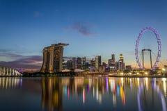 Stads- horisont och sikt av skyskrapor Royaltyfri Fotografi