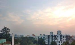 Stads- horisontbakgrund Royaltyfri Foto