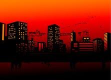 stads- horisonter Royaltyfri Fotografi