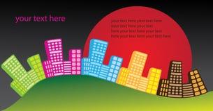 stads- inbjudandeltagare stock illustrationer