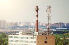 Stads- industriellt landskap arkivbilder