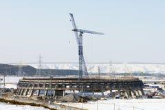 Stads- industriellt landskap för vinter Royaltyfria Bilder