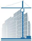 stads- industriellt tecken för konstruktionskran Arkivbilder