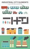 Stads infographic elementen De vectorstadselementen voor leiden tot uw eigen stadskaart Creeer uw eigen stad! Breng elementen voo Stock Foto's