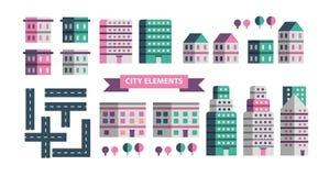 Stads infographic elementen Vectorstadselementen Vector illustratie vector illustratie