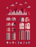Stads infographic elementen Vectorstadselementen Vector illustratie royalty-vrije illustratie