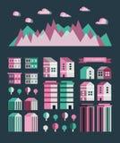 Stads infographic elementen Vectorstadselementen Vector illustratie stock illustratie