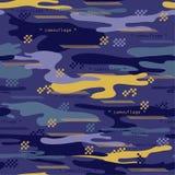 Stads- kamouflage för modern sömlös modell med bandet och geomet royaltyfri illustrationer