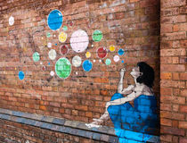 Stads- konst - grafitti Arkivbild