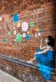 Stads- konst - grafitti Fotografering för Bildbyråer