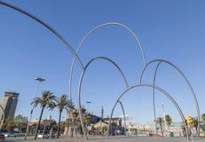 Stads- konst, skulptur Barcelona Arkivbild