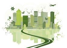 stads- konstbakgrundscityscape Arkivfoton