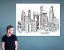 Stads- konstbegrepp royaltyfri bild
