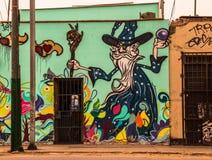 Stads- konstnärliga grafitti Arkivbild