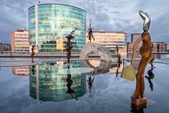 Stads- konstreflexioner Fotografering för Bildbyråer