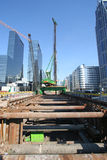 stads- konstruktion arkivfoto