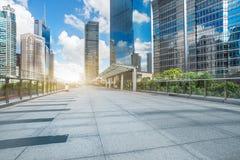 Stads- konstruktion och väg, Shanghai, Kina royaltyfri fotografi