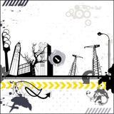 Stads- kort för Grunge Arkivbilder